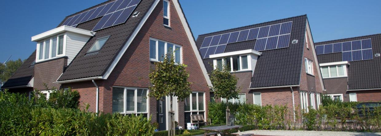 Huis met zonnepanelen